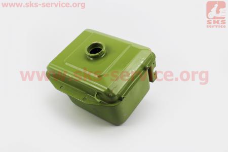 Бак топливный R175A/R180NM, 260x190x165мм, выст. горловина, отверстие под шланг топливный + фарадля мотоблока