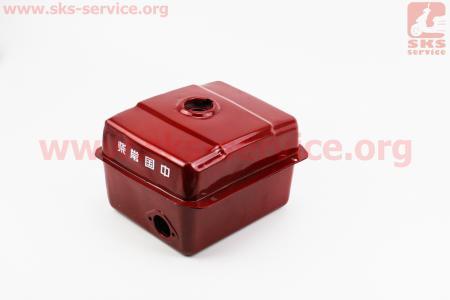 Бак топливный R175A/R180NM, 240x190x160мм, потайная горловина, отверстие под кран топливный, нет крепления под фару для мотоблока