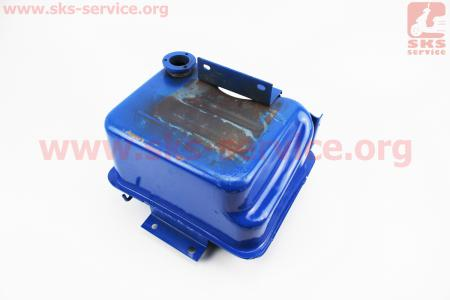 Бак топливный R195NM, 285x230x180мм, потайная горловина, отверстие под кран топливный на двигатель дизельный R190N(NM)/R195N(NM)