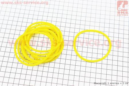 Кольцо (манжет) уплотнительное гильзы к-кт 10шт, желтые R190N на двигатель дизельный R190N(NM)/R195N(NM)