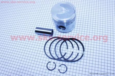Поршень, кольца, палец к-кт R185N 85мм STD (с выборкой под клапана) на двигатель дизельный R190N(NM)/R195N(NM)