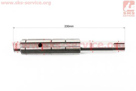 Вал первичный редуктора фрезы L=230мм V1100, CROSSER S-180 для мототрактора
