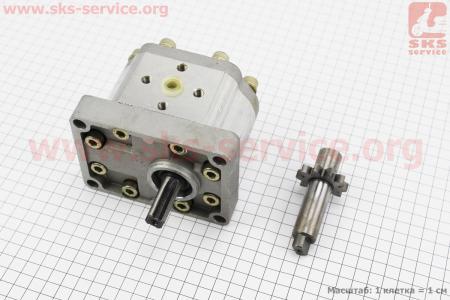Насос гидравлический под шлиц, (в к-кт сменный вал под шпонку) для мототрактора