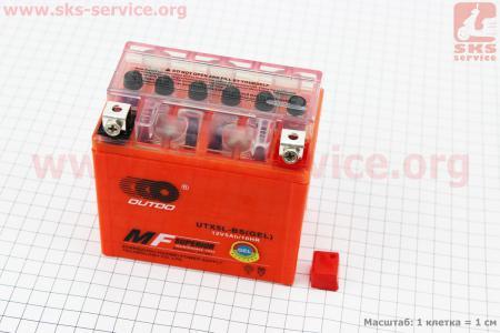 Аккумулятор 5Аh UTX5L-BS гелевый (L112*W70*H105 mm), 2019