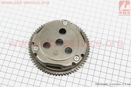 Бендикс стартера в сборе на 13,5мм вал для китайских скутеров на двигатель TB50,65сс 2-T цепной вариатор