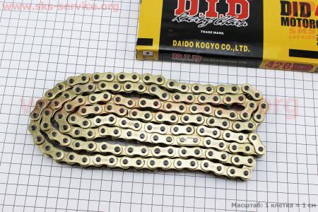 Цепь привода колеса 428Н*136L GOLD для мопедов Delta (Viper)
