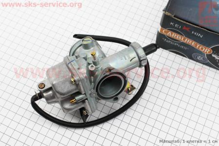 Карбюратор СВ/CG-200 (d=30), дросель под трос для мотоциклетных двигателей CG125-200cc