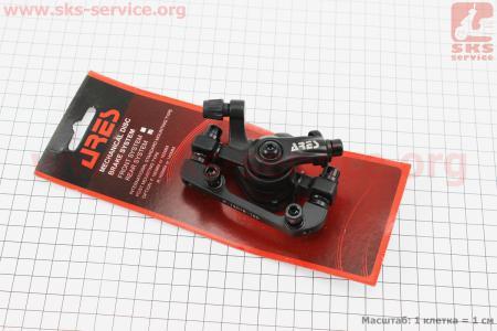 Тормозной суппорт задний (адаптер F180/R160мм), черный MDA08 для велосипеда