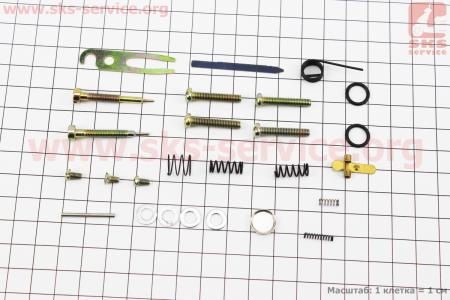 Ремонтный комплект карбюратора КМП-100У для бензопил УРАЛ, 26 деталей