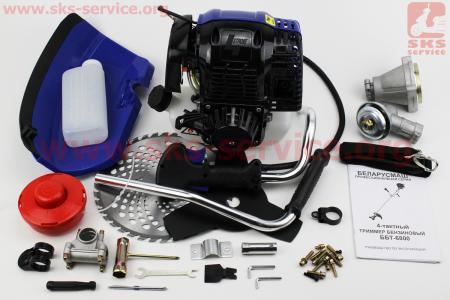 Триммер (мотокоса) БЕЛАРУСМАШ ББТ-6800 4Т - 6,8кВт (шпуля-1шт+нож 3Т-1шт+40Тпоб-1шт, труба Ø26мм)