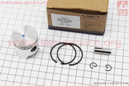 Поршень, кольца, палец к-кт 34мм (палец 8мм) Stihl FS-86/88 для мотокосы
