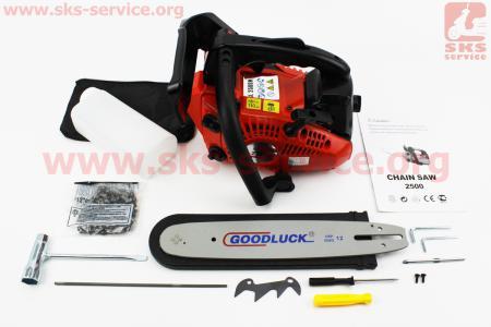 """Бензопила GoodLuck GL2500M 25cc (1,7кВт. шина 12"""", цепь 3/8-1,3mm 45зв.) с подкачкой"""
