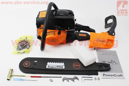 "Бензопила POWER CRAFT CS4529t 45cc (3,9л.с., шина 18"")"