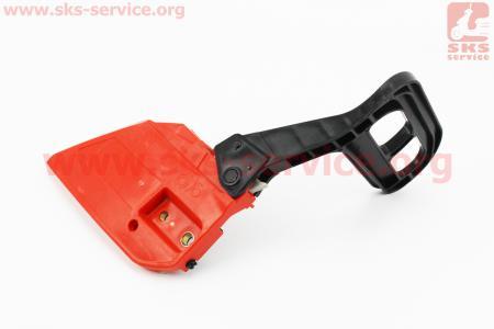 Ручка тормоза в сборе 4500/5200 - косая, Тип №4 к бензопиле GOOD LUCK