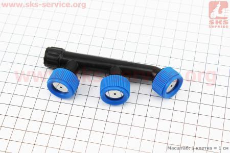 Распылитель F-образны тройной с красным для мотоопрыскивателя