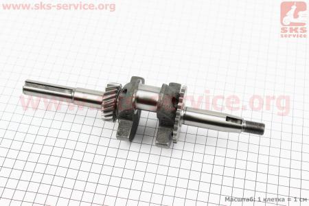 Коленвал под шпонку Ø15мм L=225мм 156F для двигателя 168F
