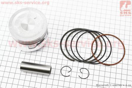 Поршень, кольца, палец к-кт для двигателя 168F 68мм, H=53мм STD