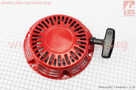 Стартер ручной в сборе 168F/170F Тип №2 (присутствуют мелкие царапины) для двигателя 168F