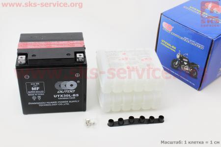 Аккумулятор 28Аh UTX30L-BS кислотный (L165*W125*H175mm), 2020 для дизельного двигателя  F178/ F186 - 6/9 л.с.