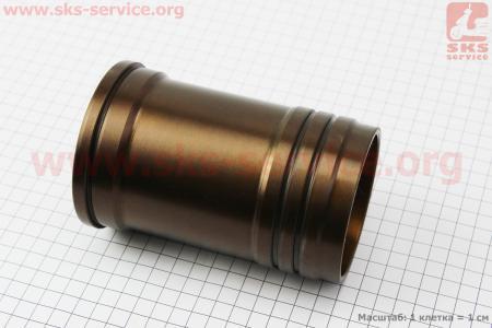 Гильза цилиндра на дизельный двигатель R175A, желтая, с насечкой