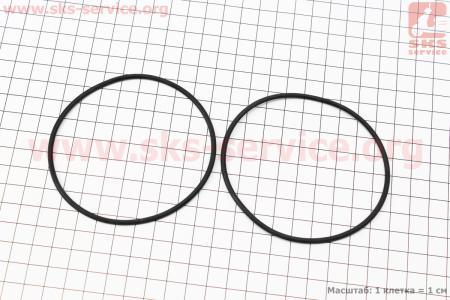 Кольцо (манжет) уплотнительное гильзы 80мм, чёрное на дизельный двигатель R180NM, к-кт 2шт