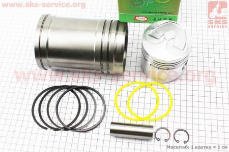 Поршень к-кт 80мм STD (с выборкой под клапана) + гильза + манжеты на дизельный двигатель R-175N/180N/