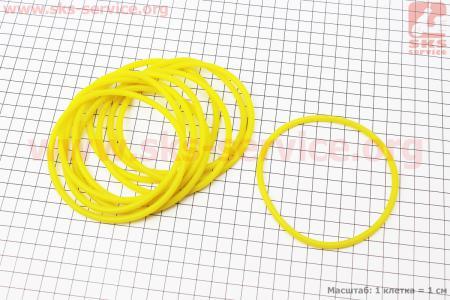 Кольцо (манжет) уплотнительное гильзы 105мм, желтые к-кт 10шт ZH1105 на двигатель  дизельный ZS1100