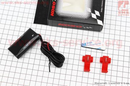 ВОЛЬТМЕТР с дисплеем, красный циферблат (универсальный, компактный) для мотоблоков