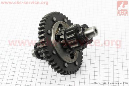 Дифференциал в сборе Z=43x15 ZUBR Z-250 для мототрактора