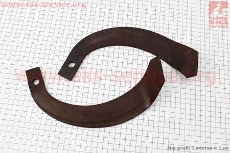 Нож для фрезы (правый+левый) к-кт 2шт, L=235mm для мототрактора