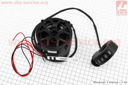 АУДИО колонка двухсторонняя (Bluetooth, МРЗ-USB/SD, FM-радио, сигнал) + блок кнопок с креплением на руль