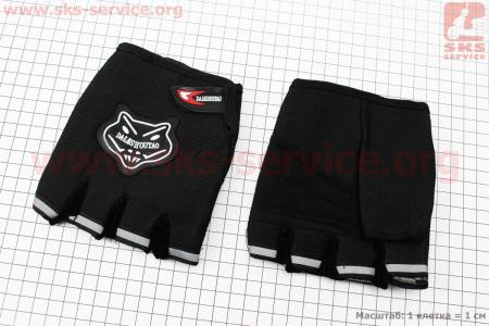 Перчатки мотоциклетные без пальцев, черные