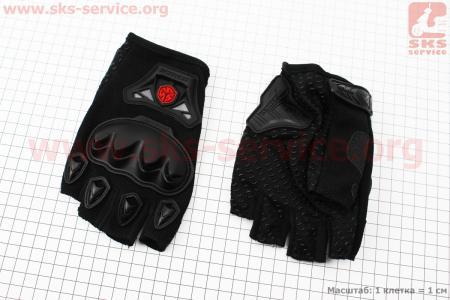 Перчатки мотоциклетные без пальцев XL-черные