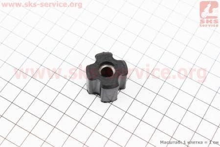 Втулка в резиновой оболочке в трубу Ø26 мм под вал Ø7 ммдля бензинового триммера 