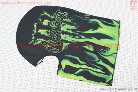 """ПОДШЛЕМНИК """"Monster Energy"""" AC022, ЧЕРНЫЙ"""