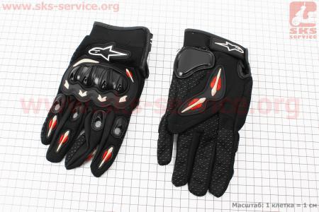Перчатки мотоциклетные L-черные