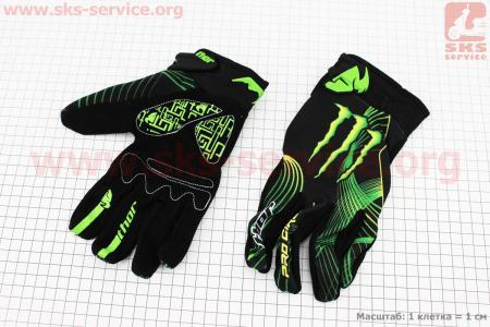 Перчатки мотоциклетные XL-зеленые, тип 4