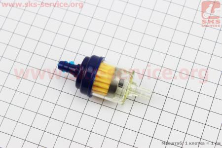 Фильтр топливный прозрачный с магнитом малый, цветной