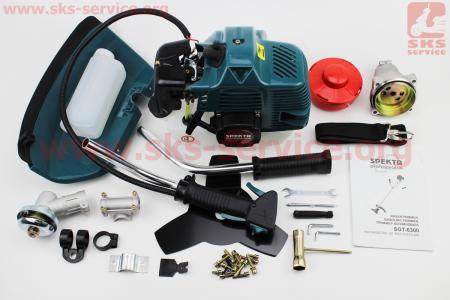Триммер (мотокоса) SPEKTR SGT-6300 - 6,3кВт (шпуля-1шт+нож 3Т-1шт, труба Ø28мм)