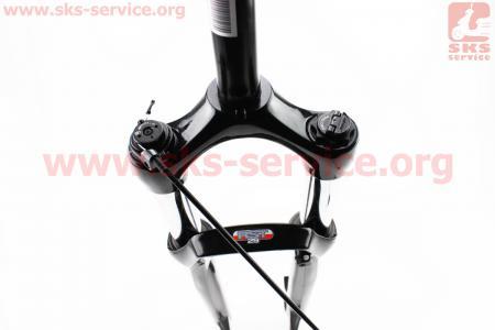 """Вилка 29"""" амортизационная, без резьбы 1-1/8"""" (28,6мм), шток 260мм, с ходом 100мм, Disk-brake, пружинно-масляная, выносной Lockout, магниевая, OMEGA RL для велосипеда"""