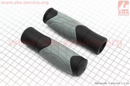 Ручки руля 125мм, черно-серые VLG-1679D2 для велосипеда