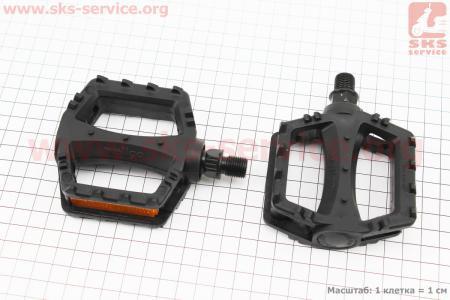"""Педали CHILD 1/2"""" (95x81x25mm) пластиковые, черные LU-968DU для велосипеда"""