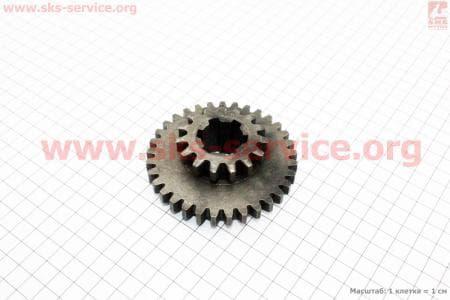 КПП - Шестерня первичного вала 81-1 Z=15x33 З/ч на мотоблок с двигателем R175N(NM)/R195N(NM)