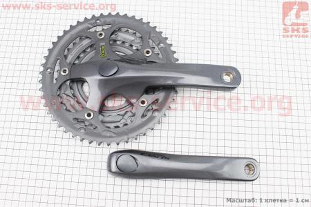 """Шатуны """"Octalink"""" 165мм, 50.39.30T ROAD, алюминиевые, серые CLARIS FC-2403 для велосипеда"""