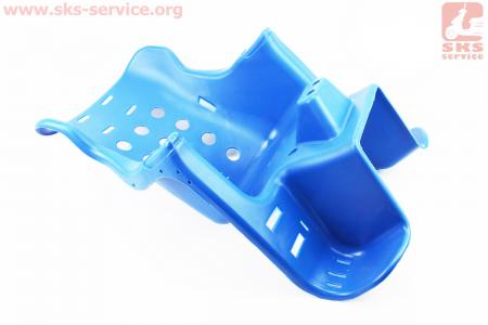 УЦЕНКА Сиденье для перевозки детей пластмассовое заднее, крепл. на багажник, синее (не комплект, см. фото) для велосипеда