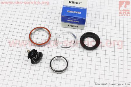 """Рулевые чашки 1-1/8""""x1,5"""" (41,8/28,6x52/40) безрезьбовой вилки, интегрированные, пром-подшипники, черные KL-B540 для велосипеда"""
