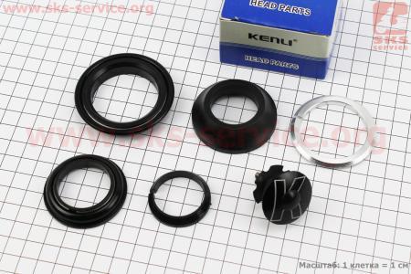 """Рулевые чашки 1-1/8""""x1,5"""" (44/28,6x55/40мм) безрезьбовой вилки, полуинтегрированные, черные к-кт, KL-B441 для велосипеда"""