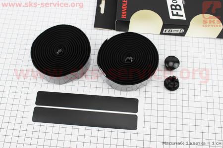 Обмотка шоссейного руля 30*1900мм, с самоклеящейся полосой, черная PU-T96 для велосипеда