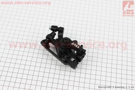 Тормозной суппорт передний (адаптер F160/R140мм), черный MDA12 для велосипеда