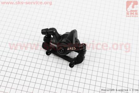 Тормозной суппорт задний (адаптер F180/R160мм), черный MDA12 для велосипеда
